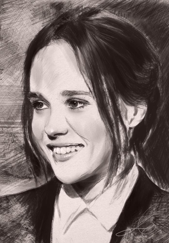 Ellen Page by z6ig